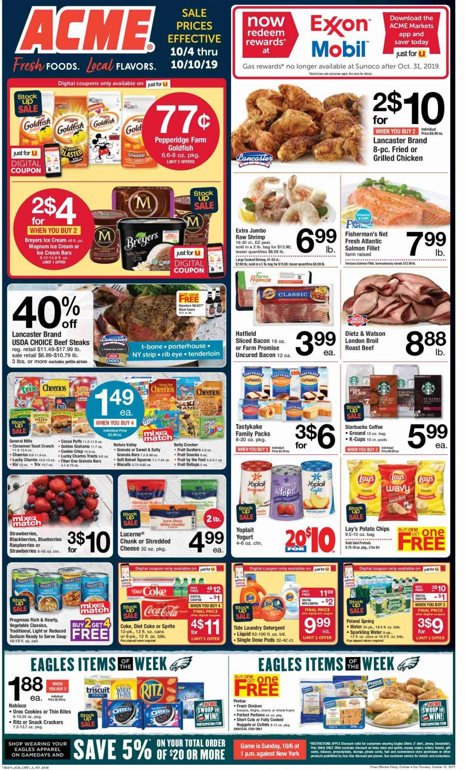 acme weekly ad fresh foods and local flavors from oct 4 to 10 2019