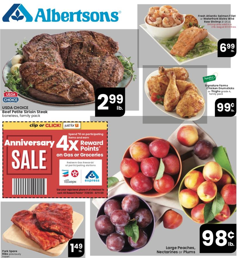 Albertsons August Weekly Ad valid from Aug 5 – 11, 2020