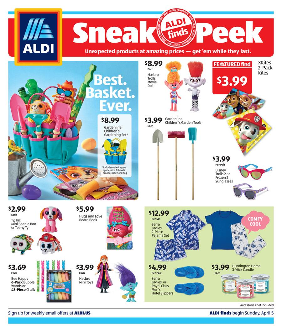 ALDI Easter Weekly Ad valid from April 5 – 11, 2020.
