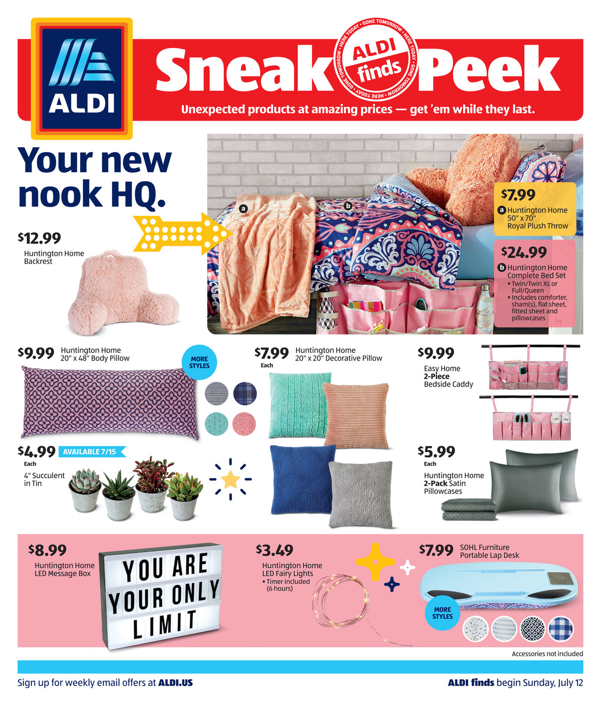 aldi mid july special sale ad valid from jul 12 18 2020