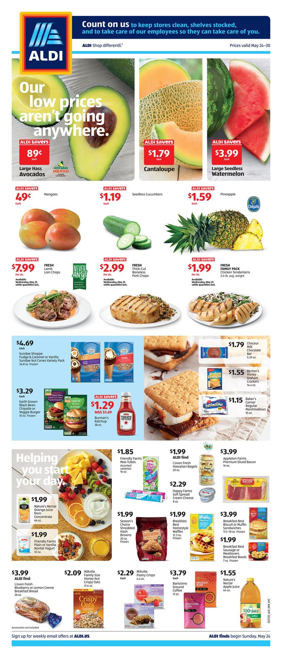 ALDI Weekly Final May Ad valid from May 24 – 30, 2020