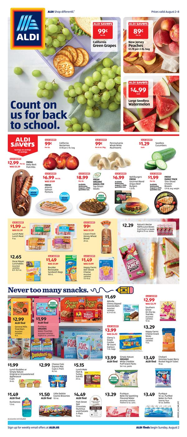 ALDI August Weekly NY Ad valid from Aug 2 – 8, 2020