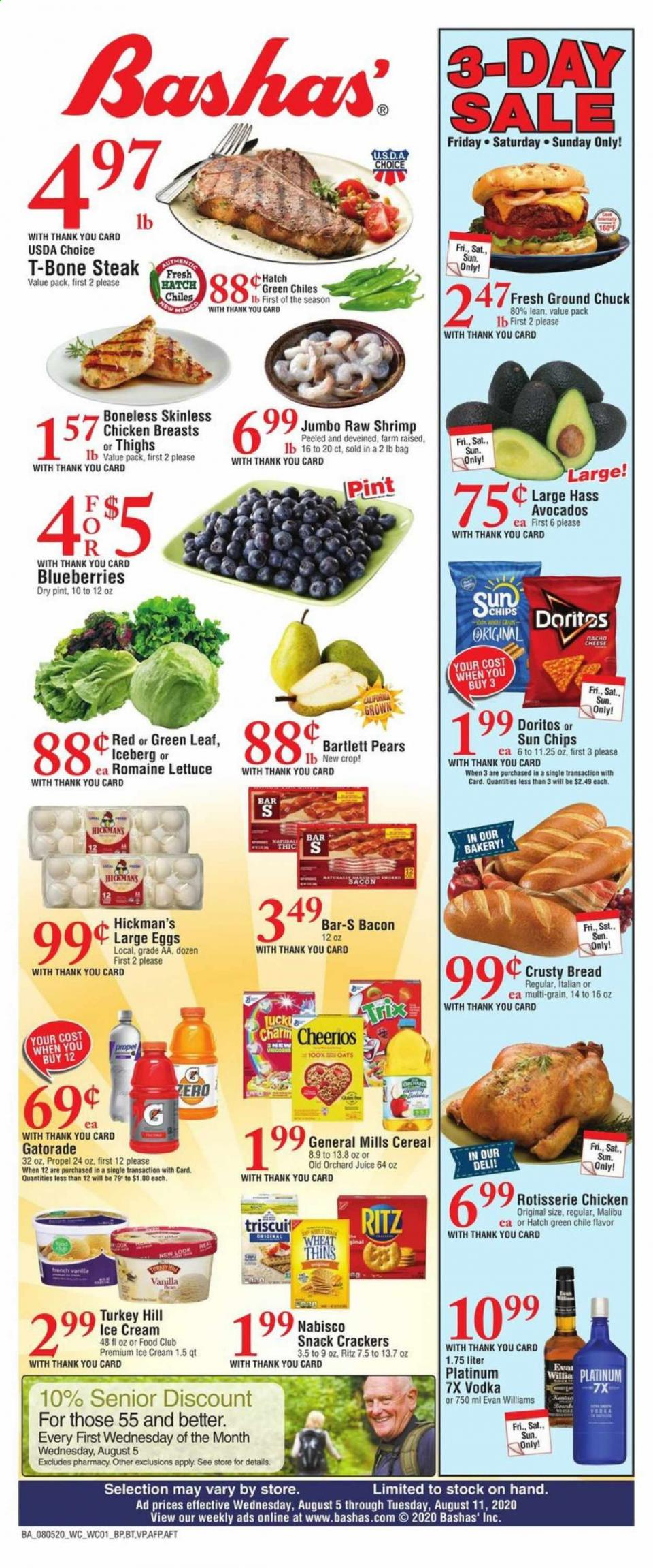 Bashas August Weekly Ad valid from Aug 5 – 11, 2020