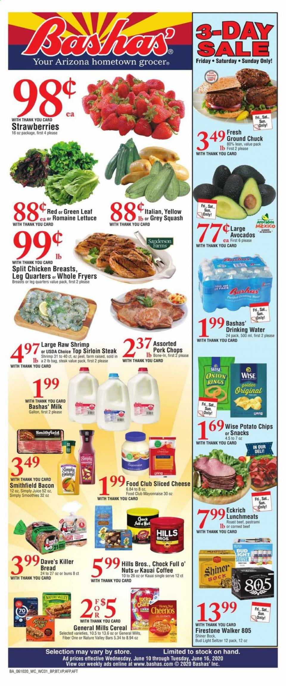 Bashas Mid June Weekly Ad valid from Jun 10 – 16, 2020