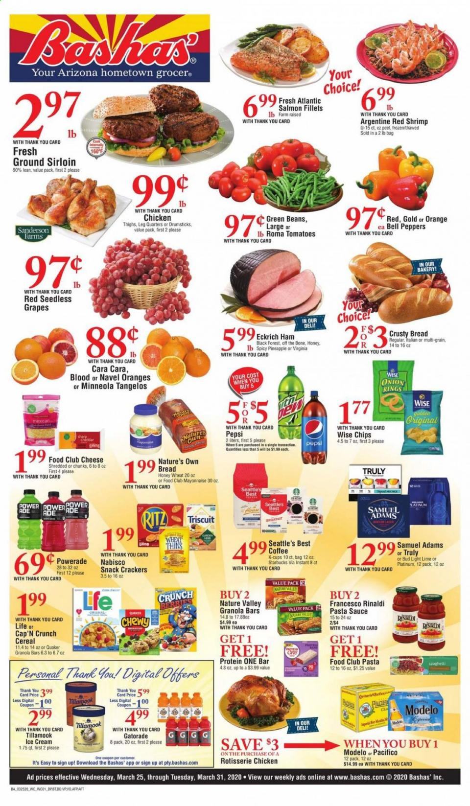 Bashas Grocery Weekly March Ad valid from Mar 25 – 31, 2020.