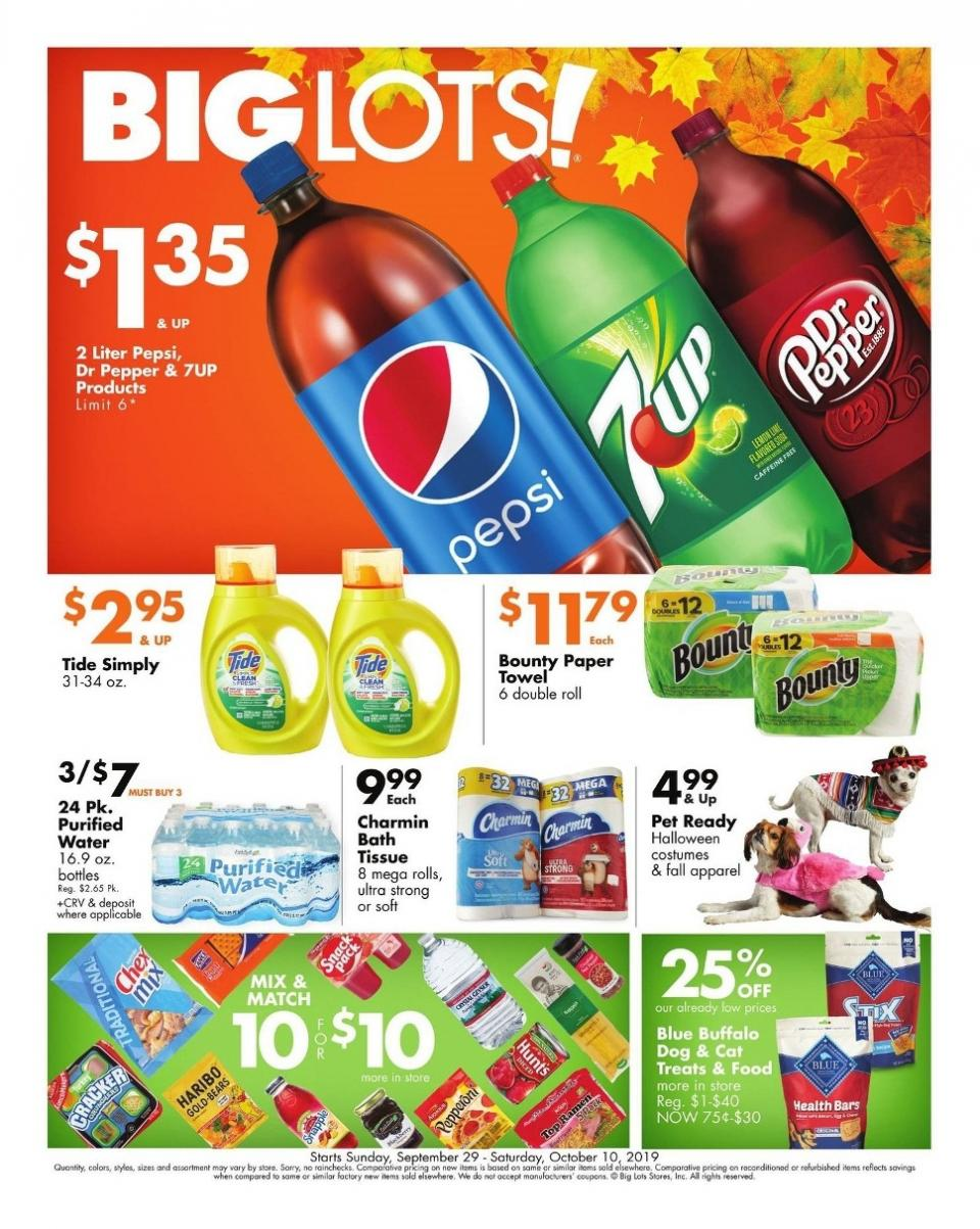 big lots ad grocery deals from sep 29 to oct 10 2019