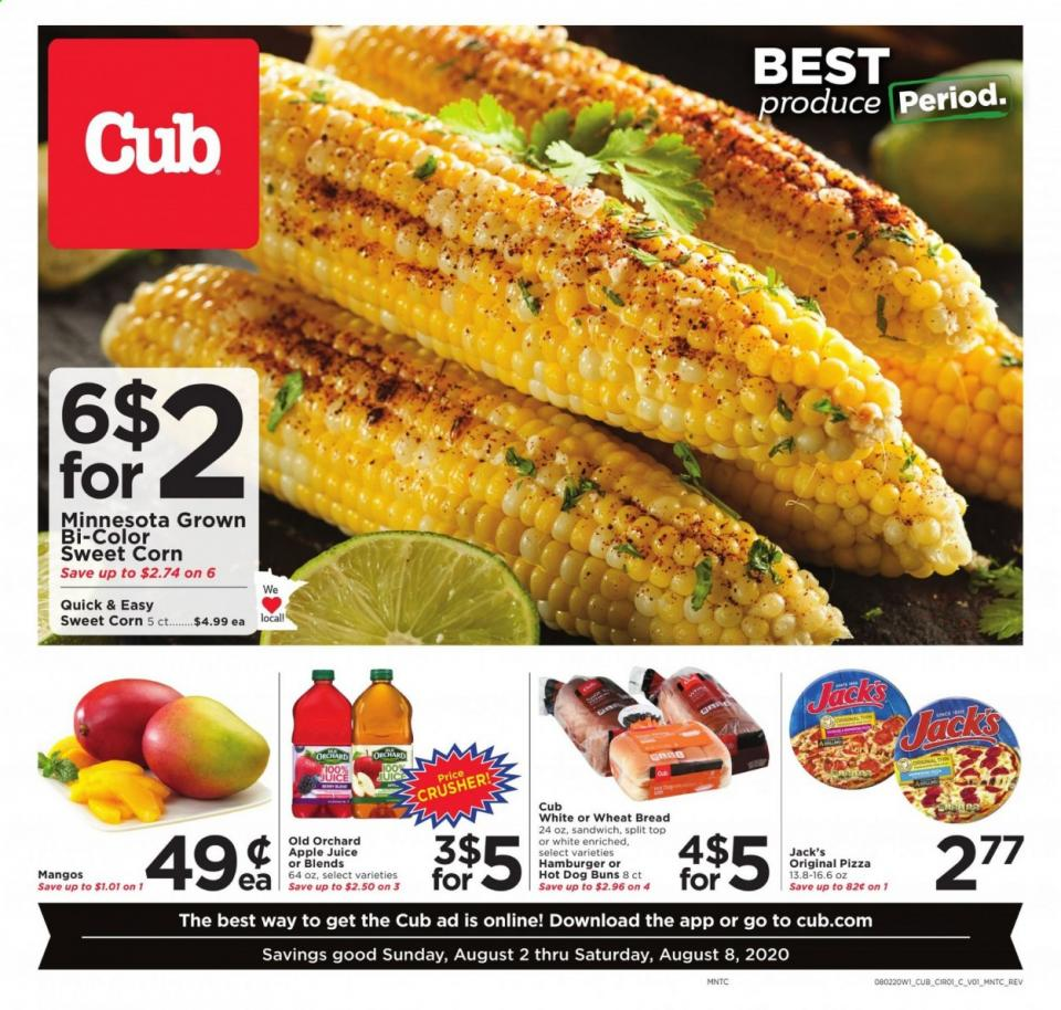 cub foods august weekly ad valid from aug 2 8 2020