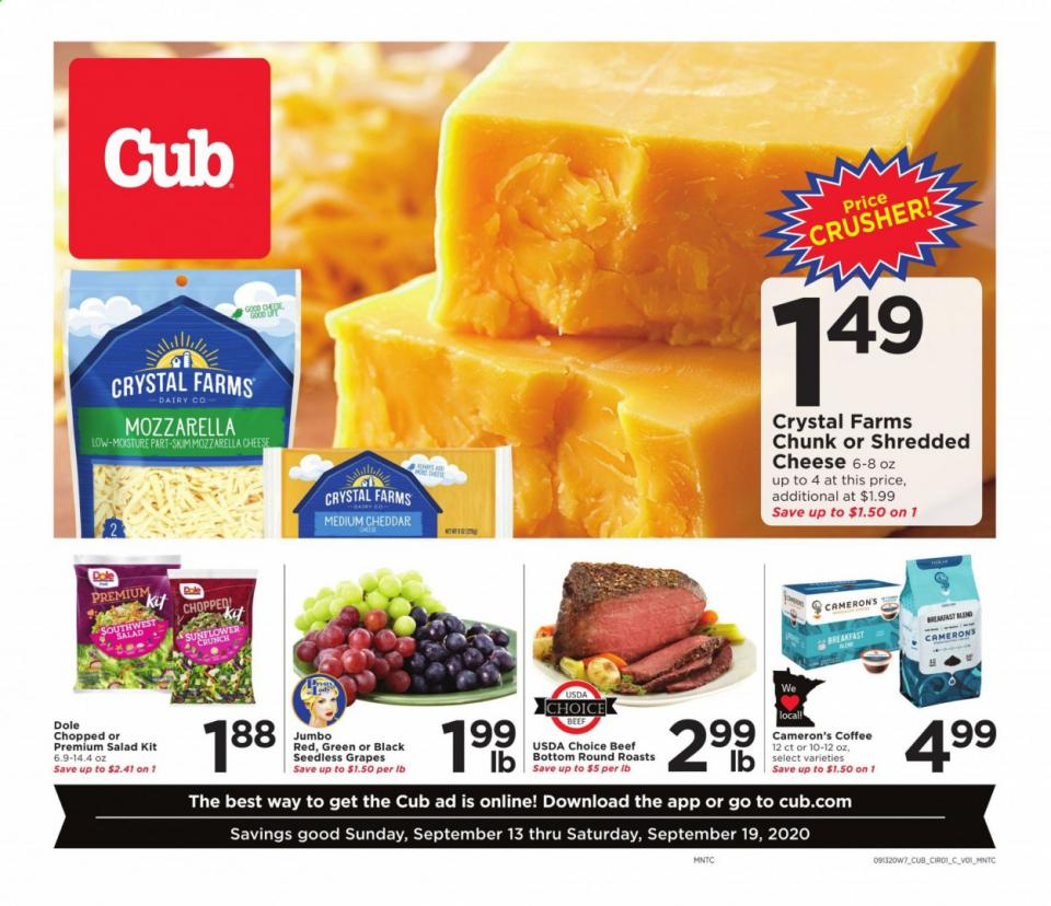 cub foods september weekly ad valid from sep 6 12 2020 2