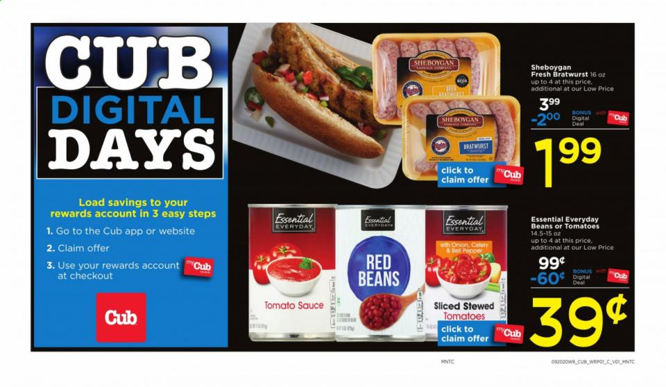cub foods final september weekly ad valid from sep 20 26 2020