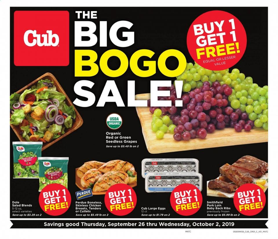 cub foods ad sep 26 oct 2 2019