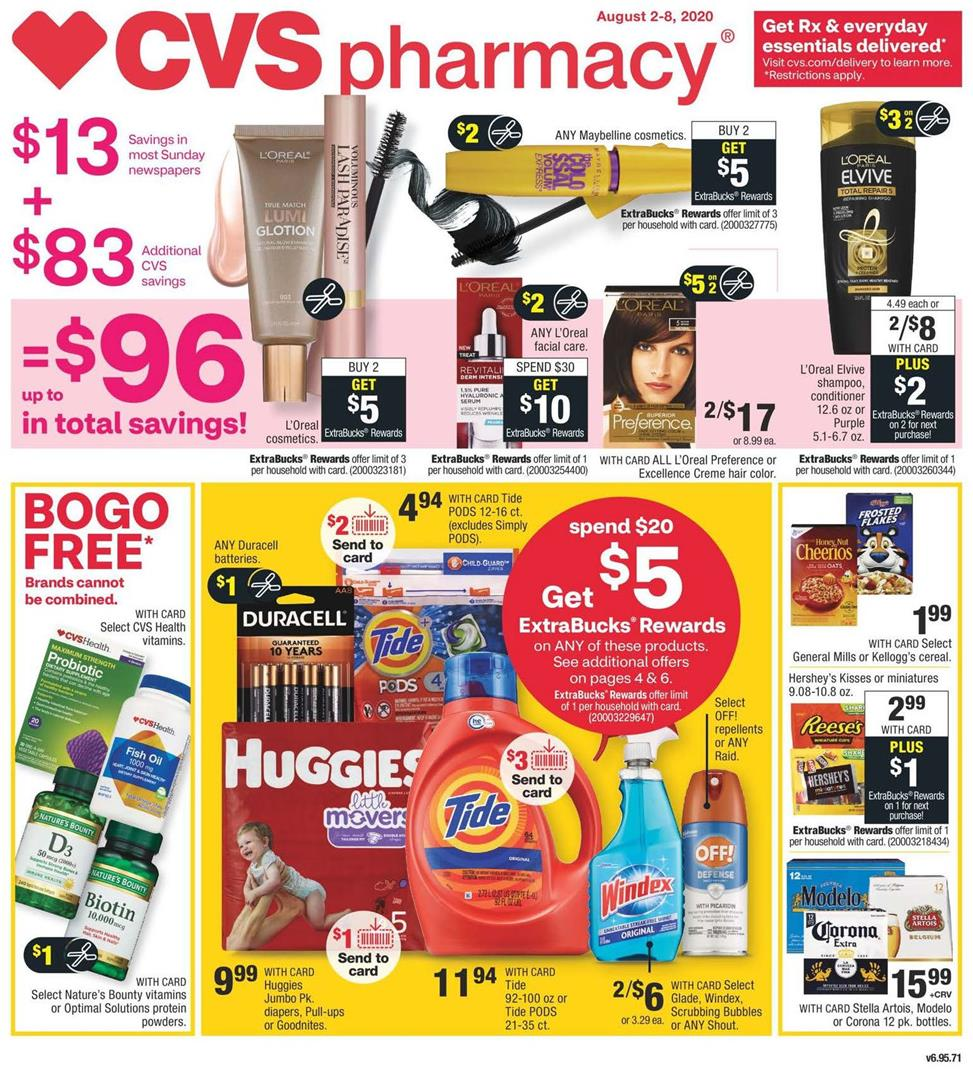 cvs august weekly ad valid from aug 2 8 2020