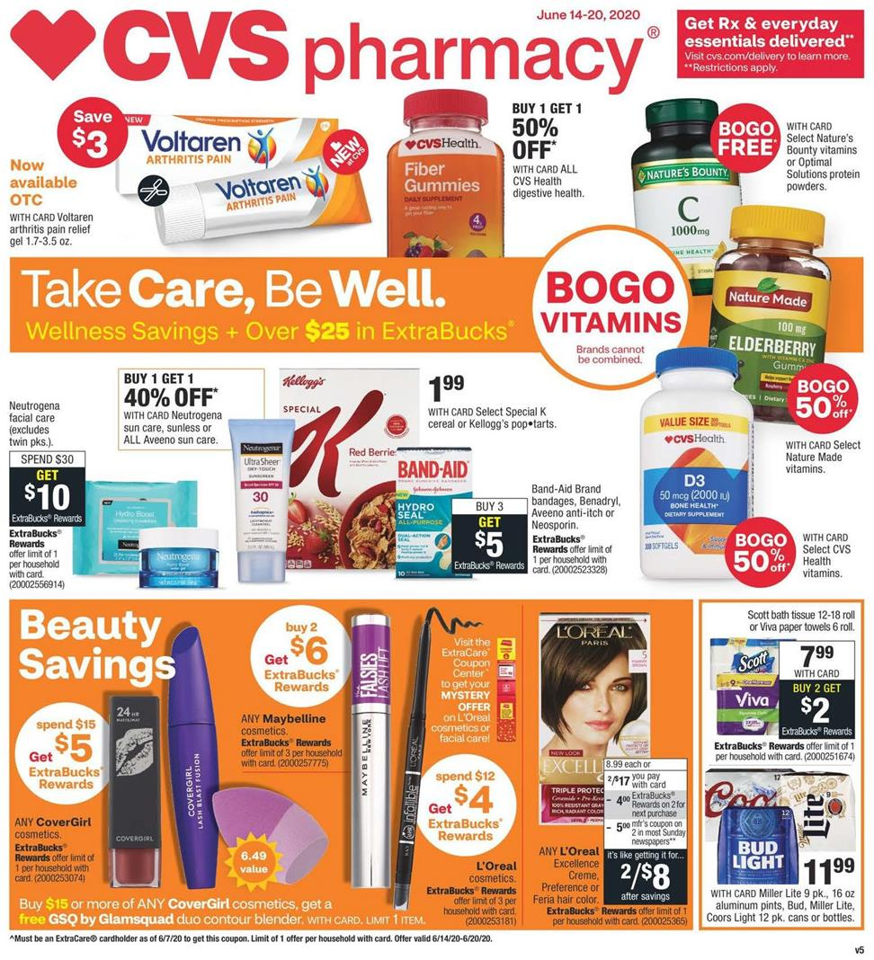 cvs weekly ad jun 14 2020