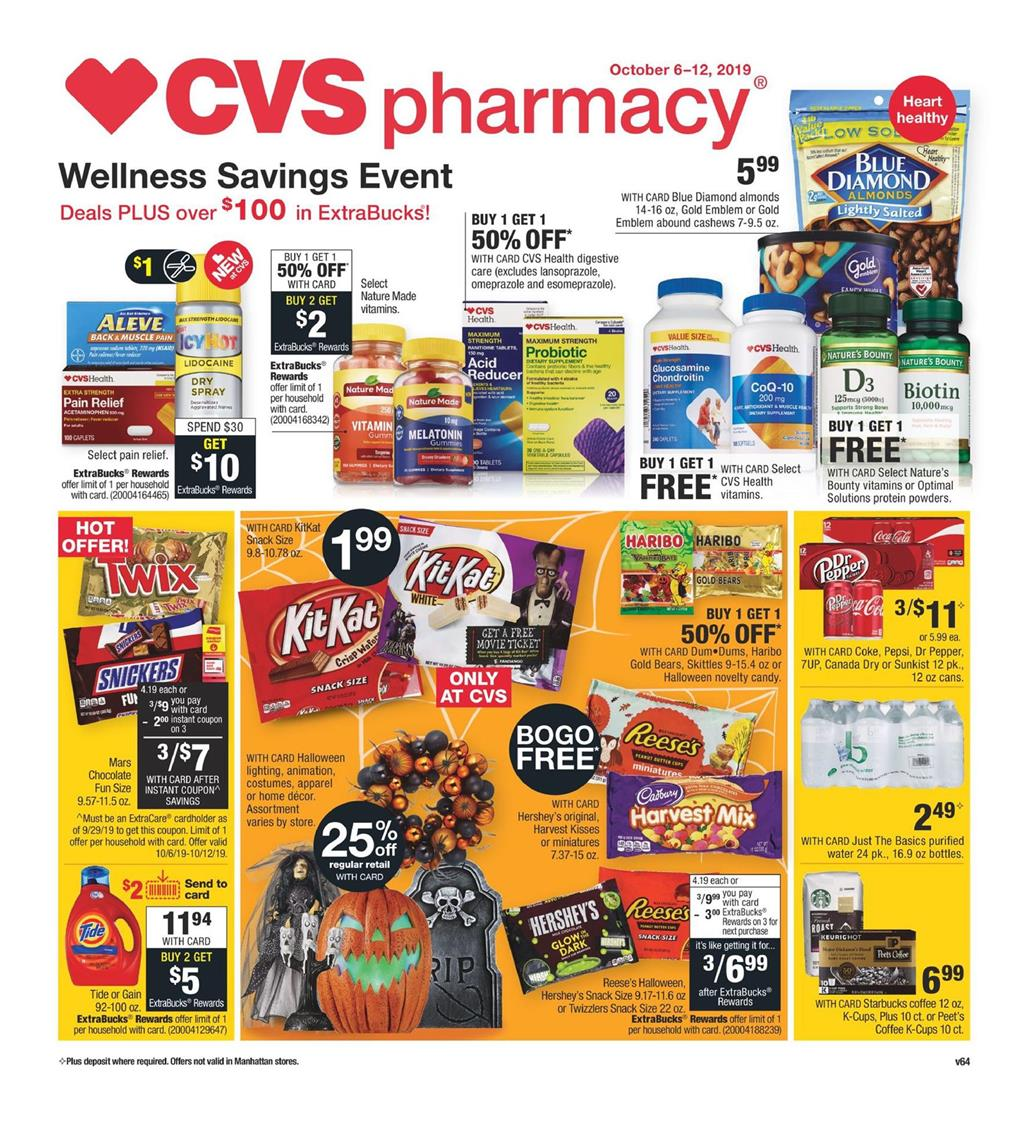 cvs weekly ad pharmacy sale from oct 6 to 12 2019