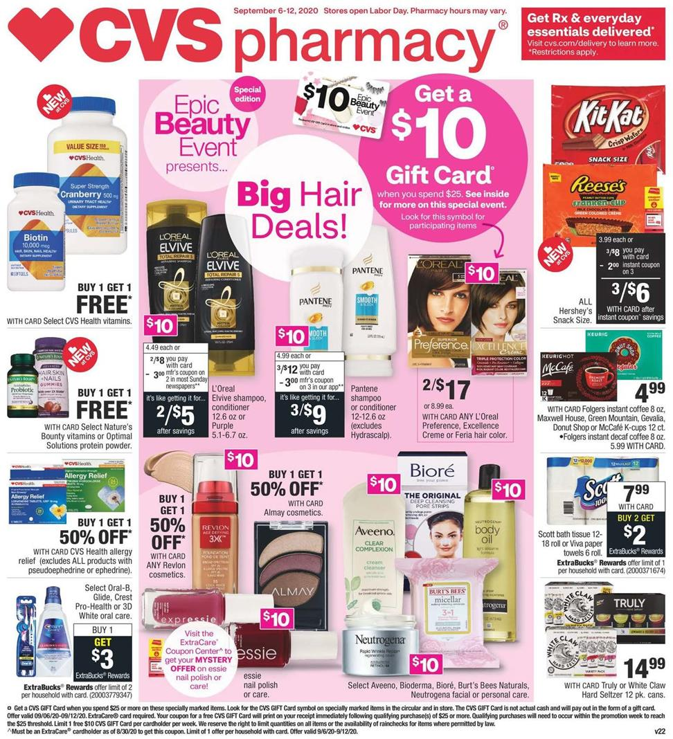 cvs september weekly ad valid from sep 13 19 2020