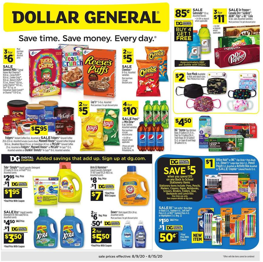 dollar general ad aug 9 2020