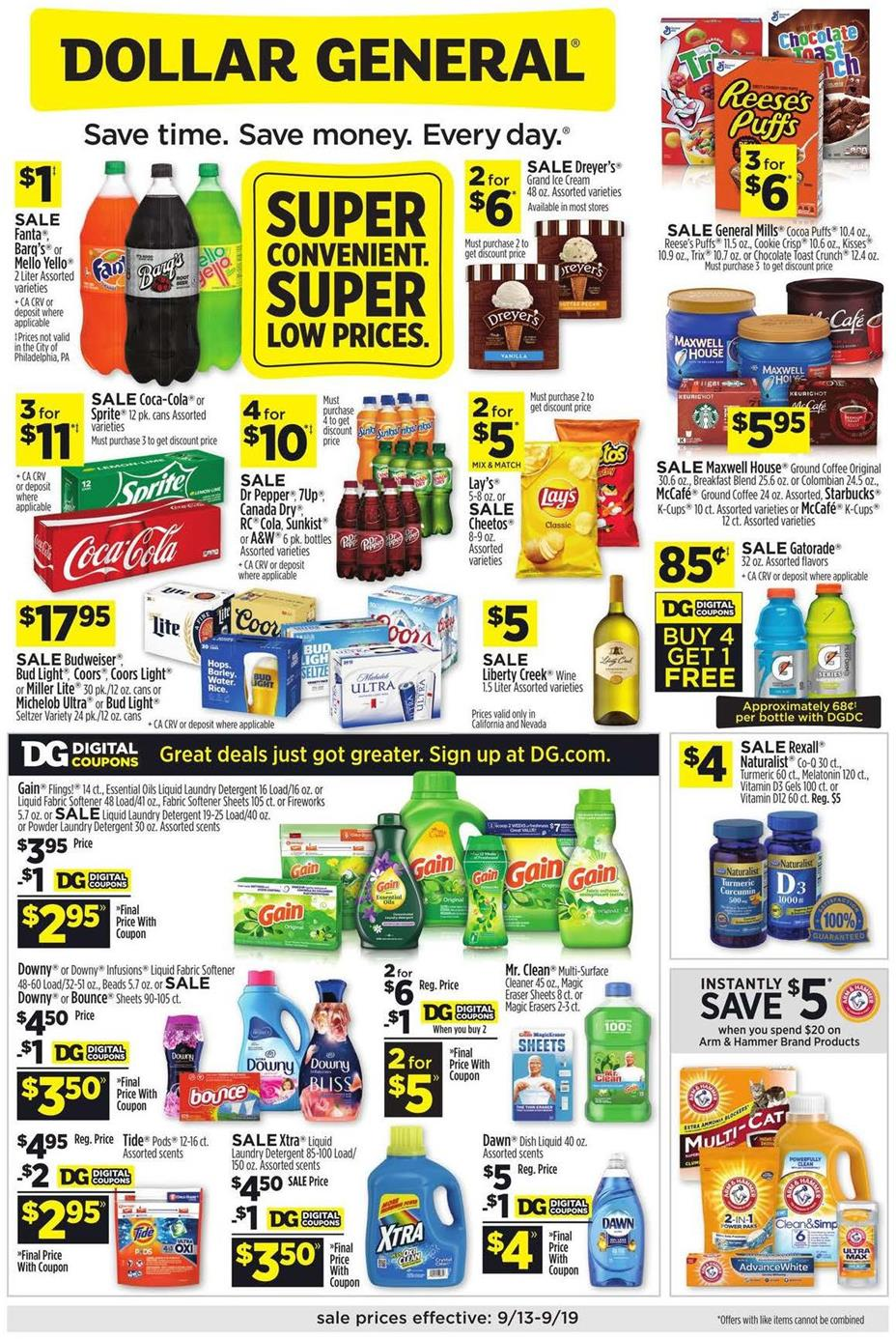 Dollar General September Weekly Ad valid from Sep 13 – 19, 2020