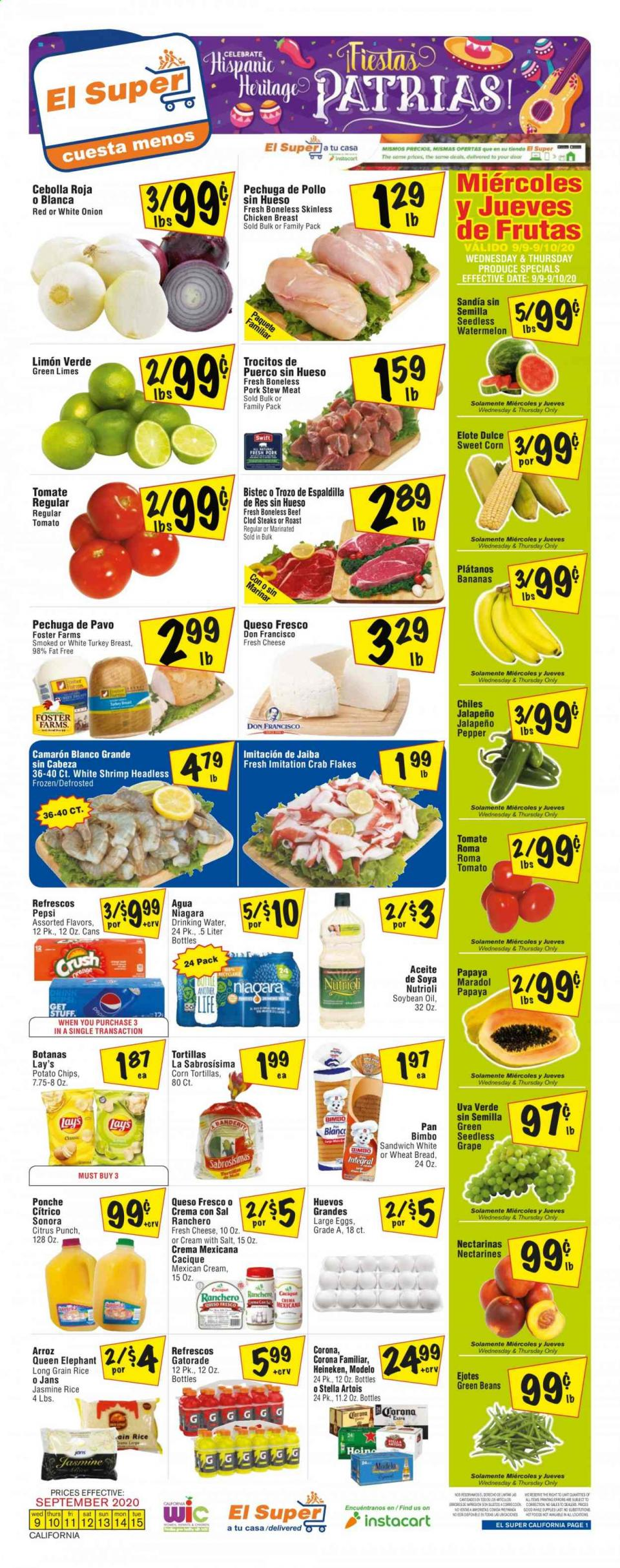 El Super Weekly September Ad valid from Sep 9 – 15, 2020