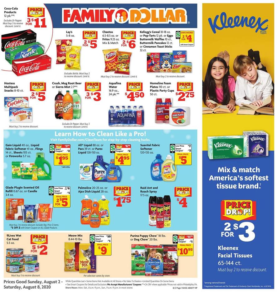 Family Dollar August Weekly Ad valid from Aug 2-8, 2020