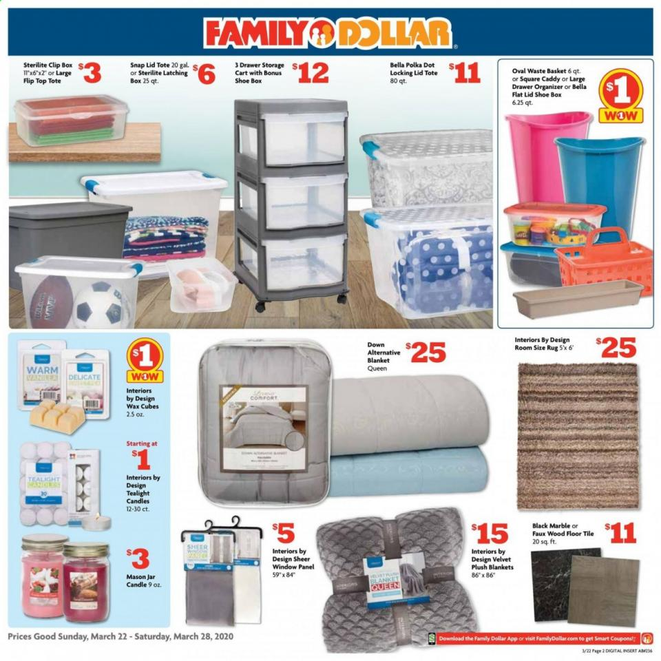 Family Dollar Home Products Ad valid from Mar 22 – 28, 2020.