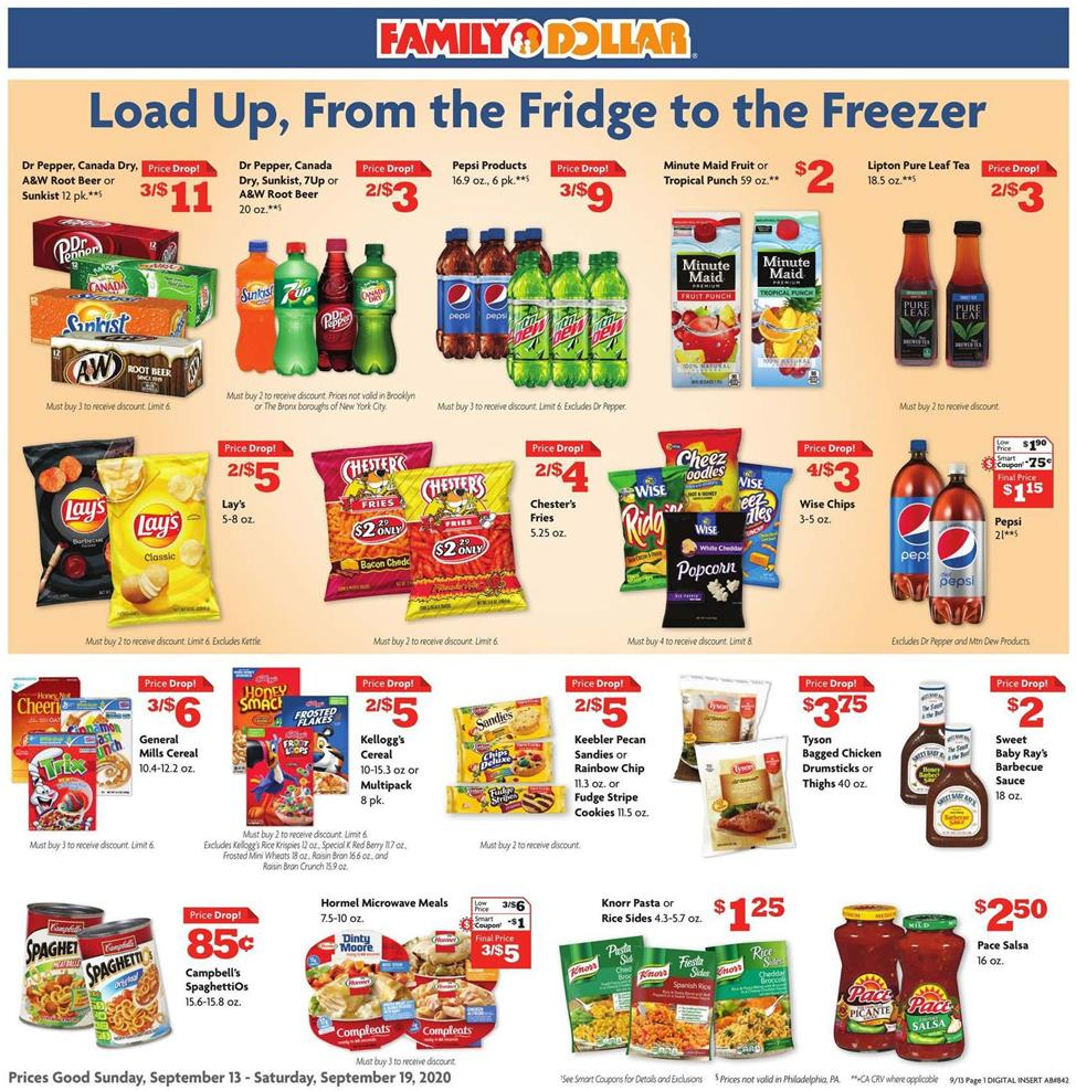 Family Dollar September Weekly Ad valid from Sep 13 – 19, 2020