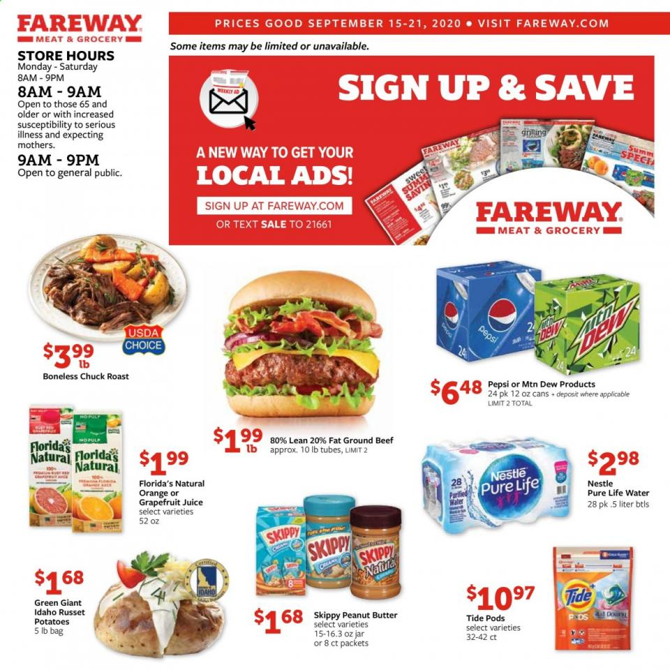 Fareway Weekly September Ad valid from Sep 15 – 21, 2020