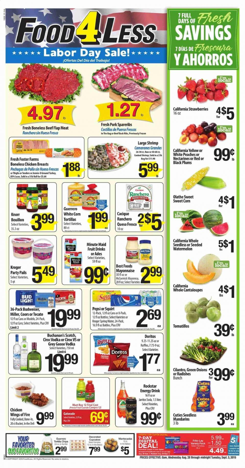 food 4 less ad aug 28 sep 3 2019