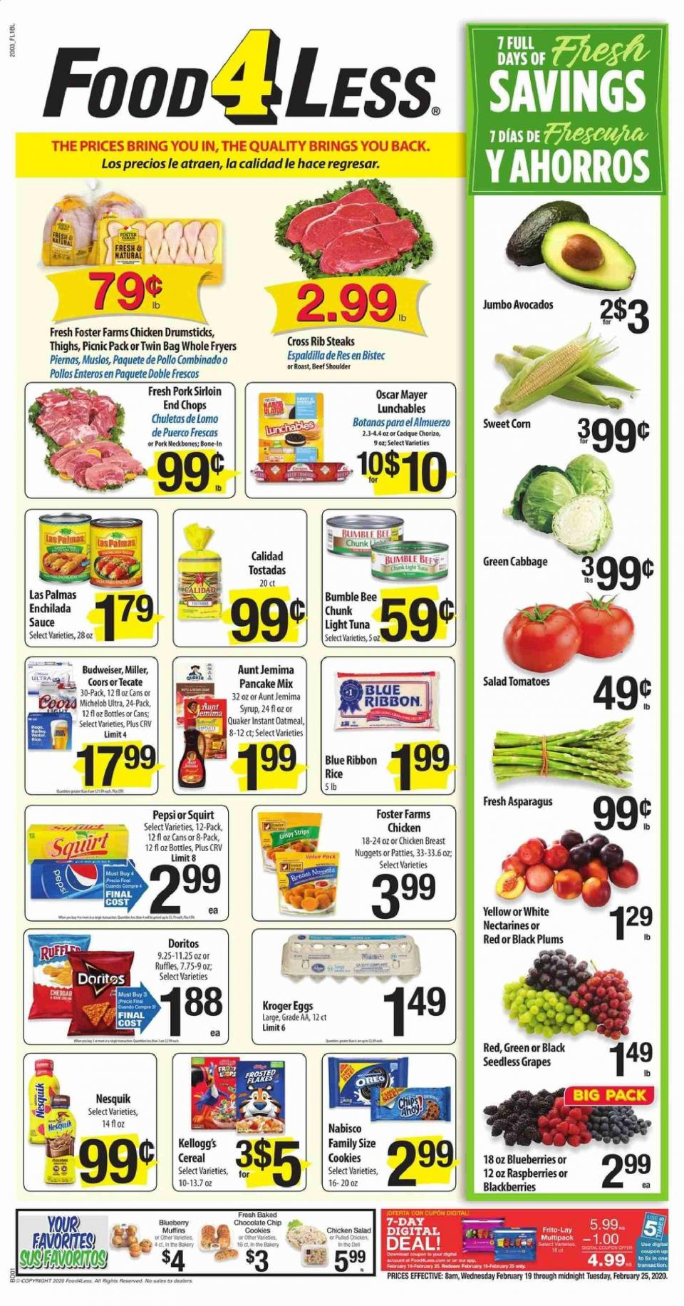 Food 4 Less Final February Ad valid from 19 – 25, 2020.