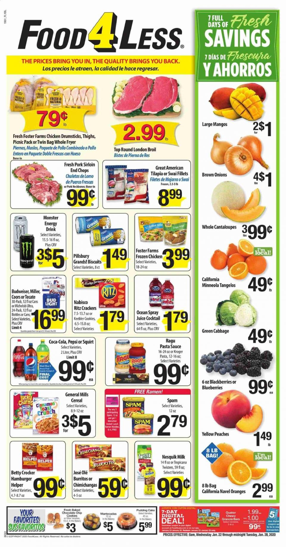 food 4 less ad jan 22 28 2020