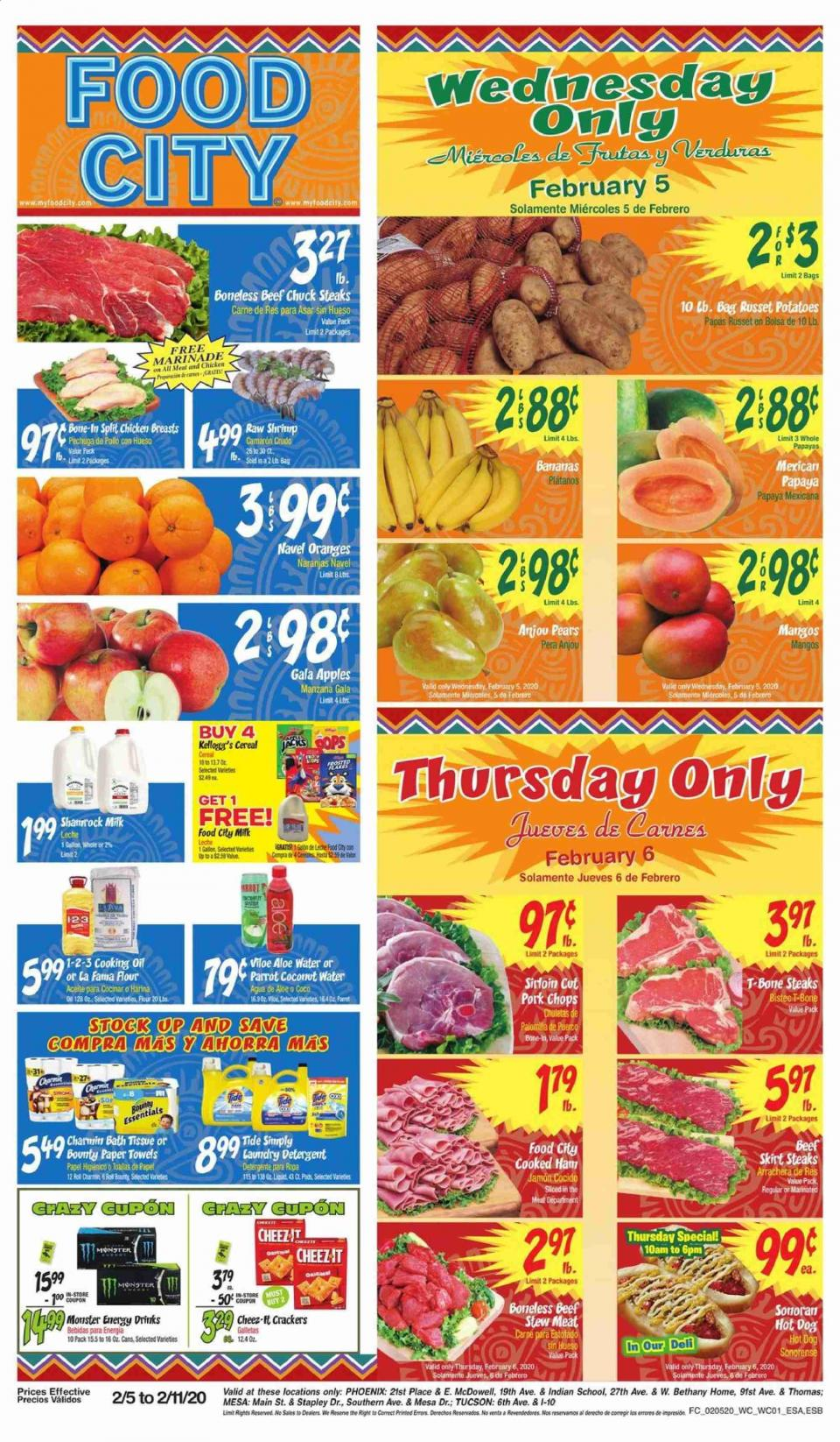 Food City February Ad valid from Feb 5 – 11, 2020.