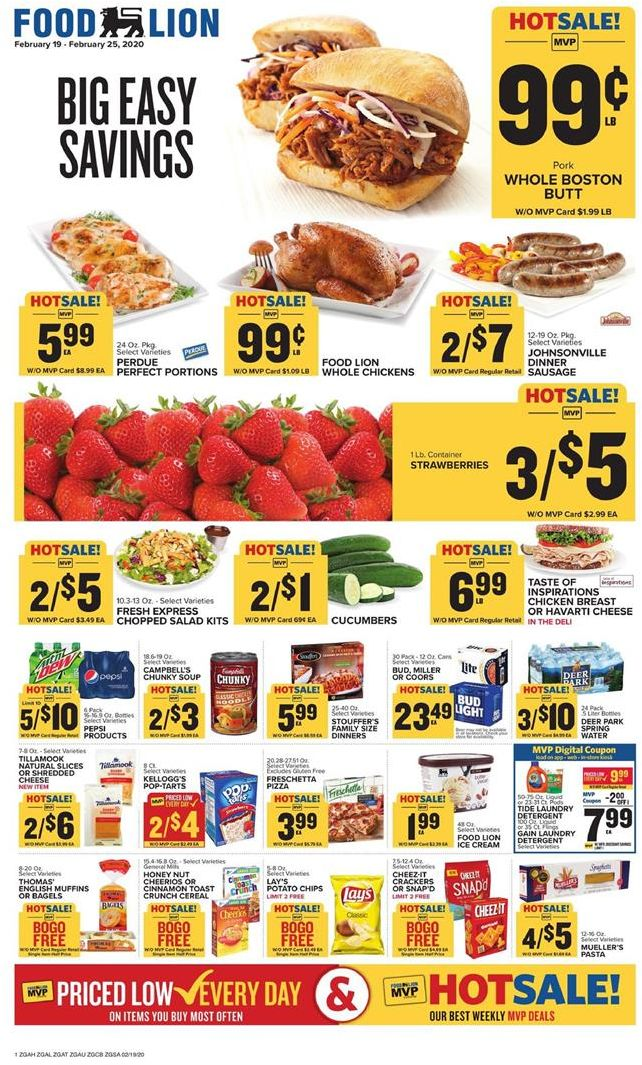 Food Lion Final February Weekly Ad valid from 19 – 25, 2020.