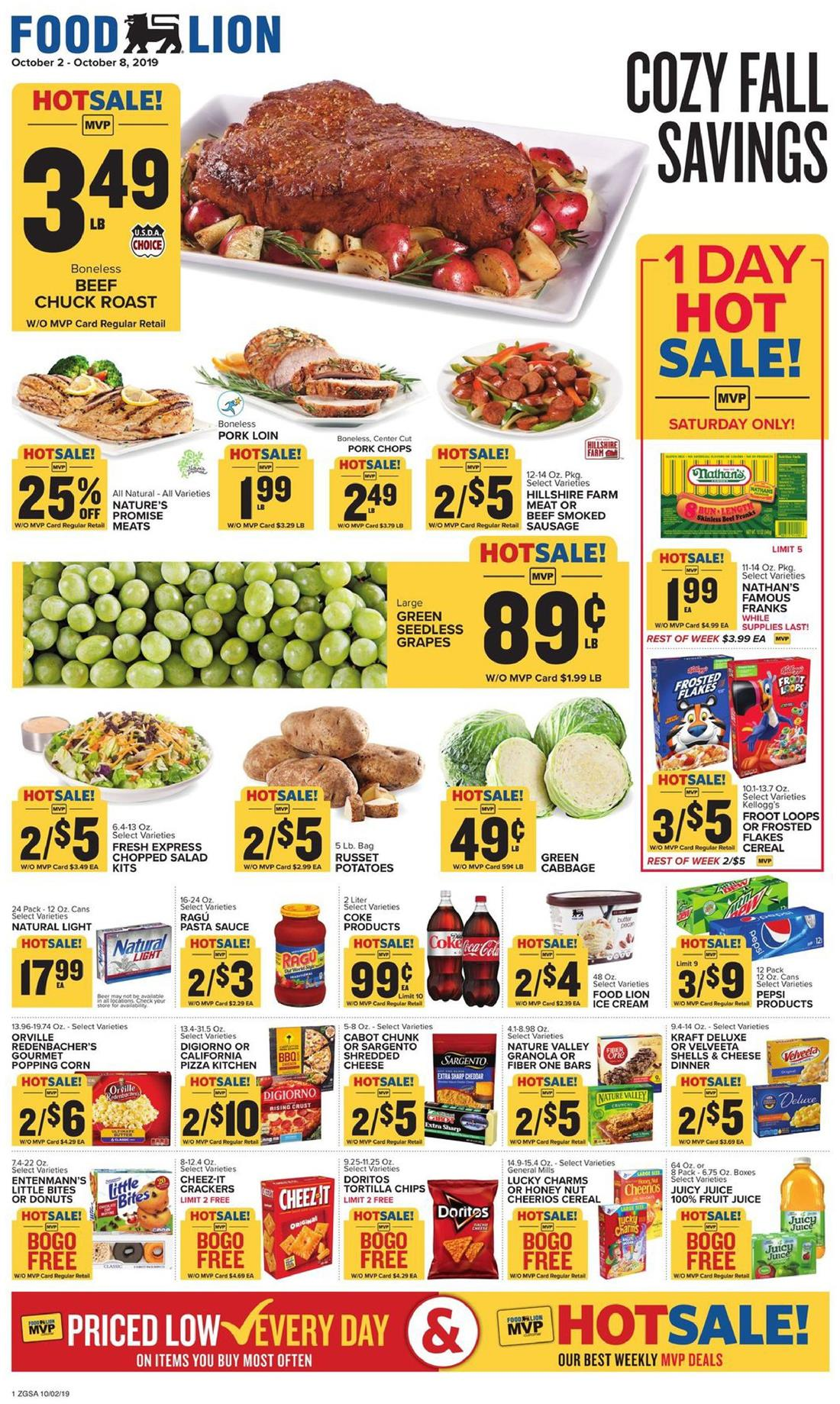food lion weekly ad oct 2 2019