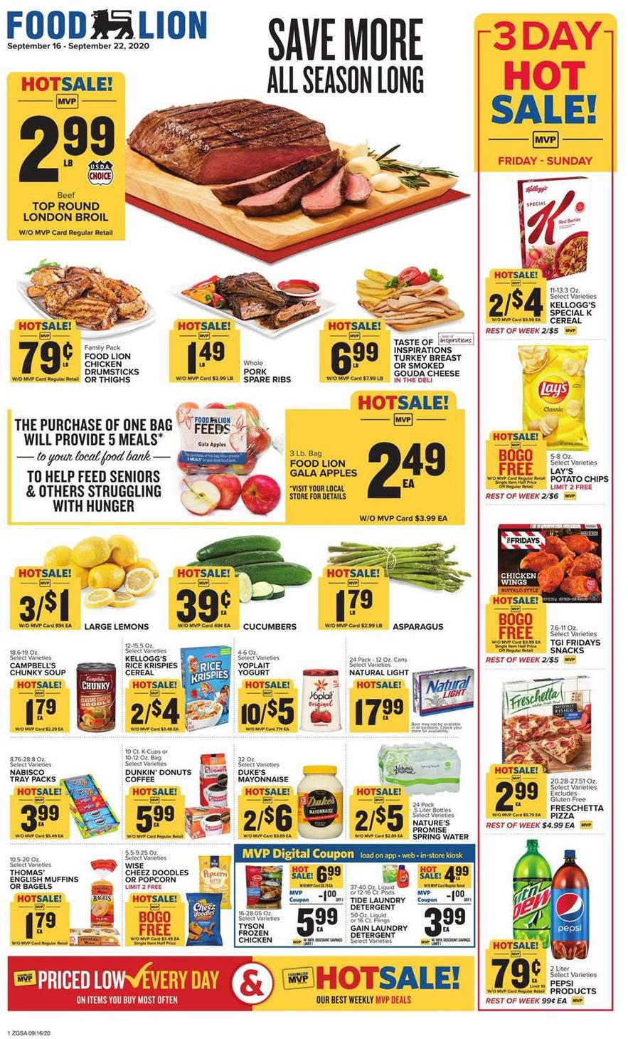 Food Lion Weekly September Ad valid from Sep 16 – 22, 2020