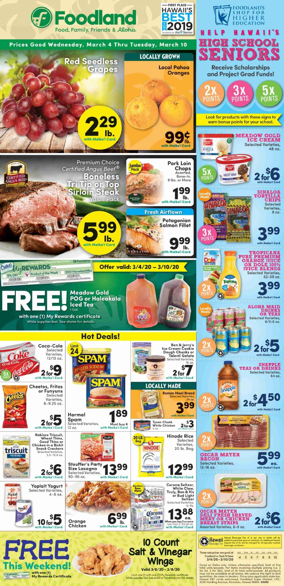 Foodland March Weekly Ad valid from March 4 – 10, 2020.