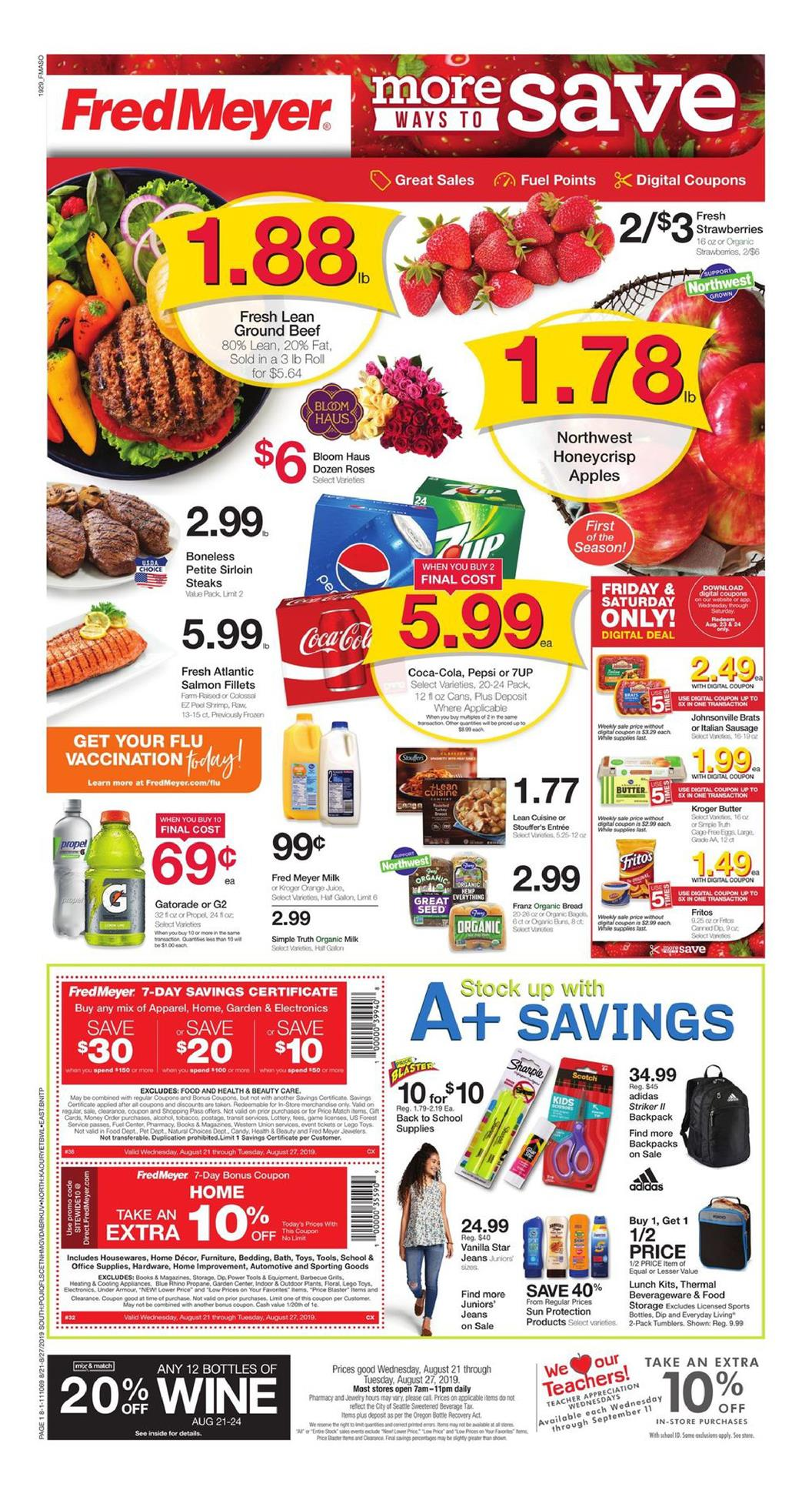 fred meyer ad aug 21 2019
