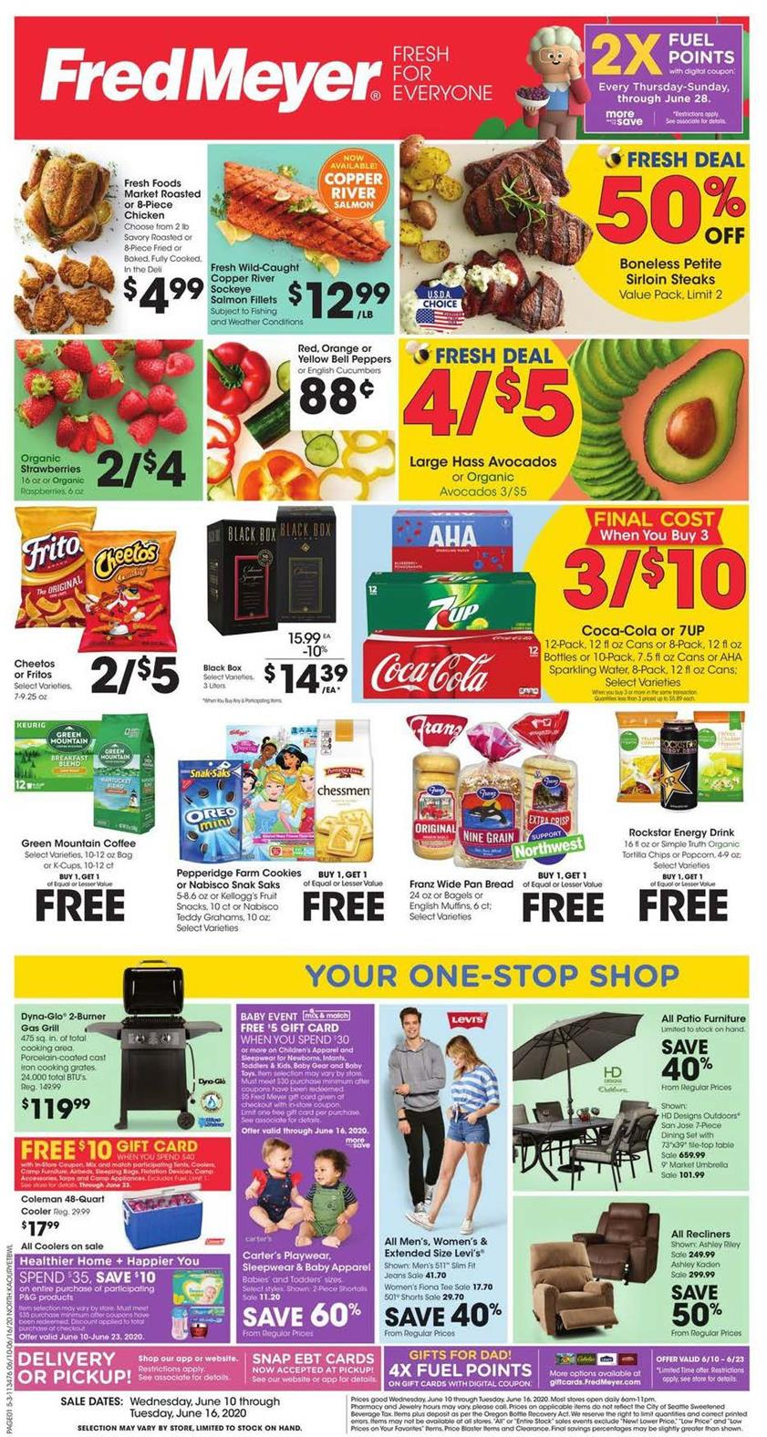 fred meyer mid june weekly ad valid from jun 10 16 2020