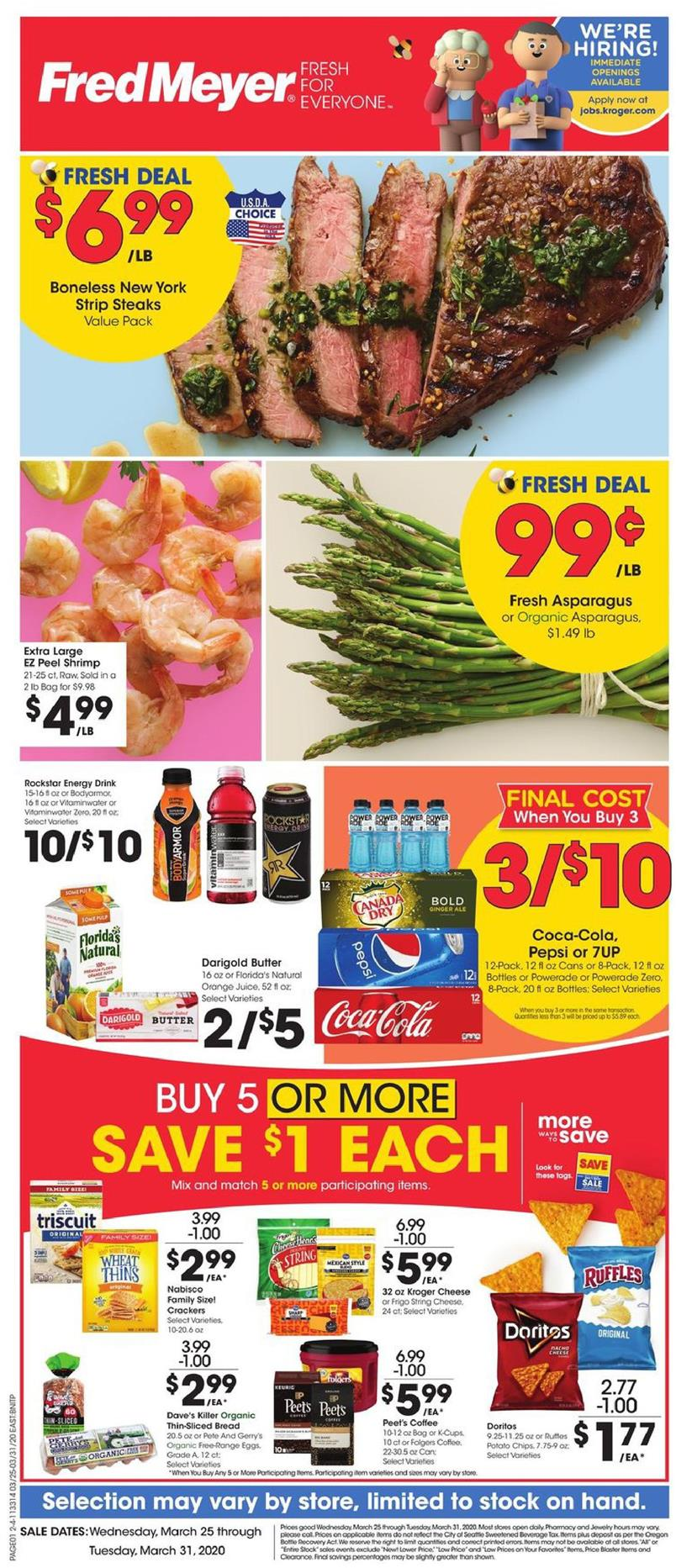 Fred Meyer Final March Ad valid from Mar 25 – 31, 2020