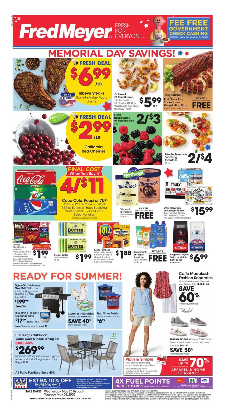 Fred Meyer Final May Weekly Ad valid from May 20 – 26, 2020