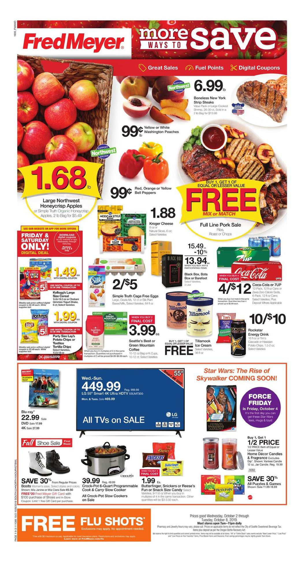 fred meyer ad oct 2 2019