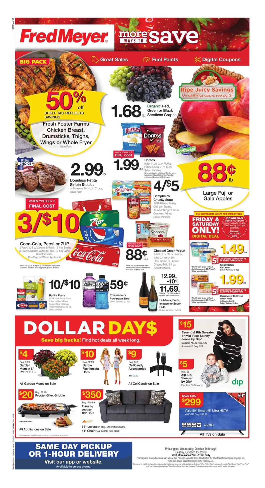 fred meyer ad oct 9 2019
