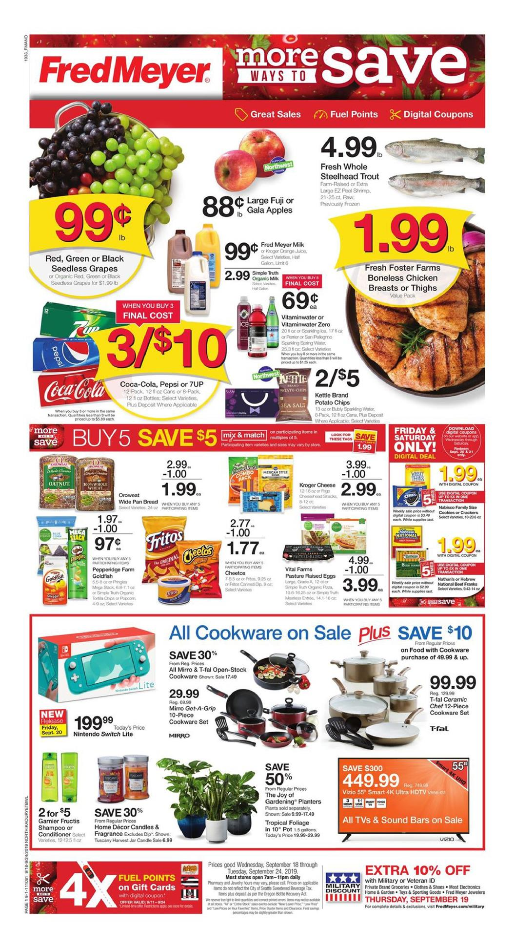 fred meyer ad sep 18 2019