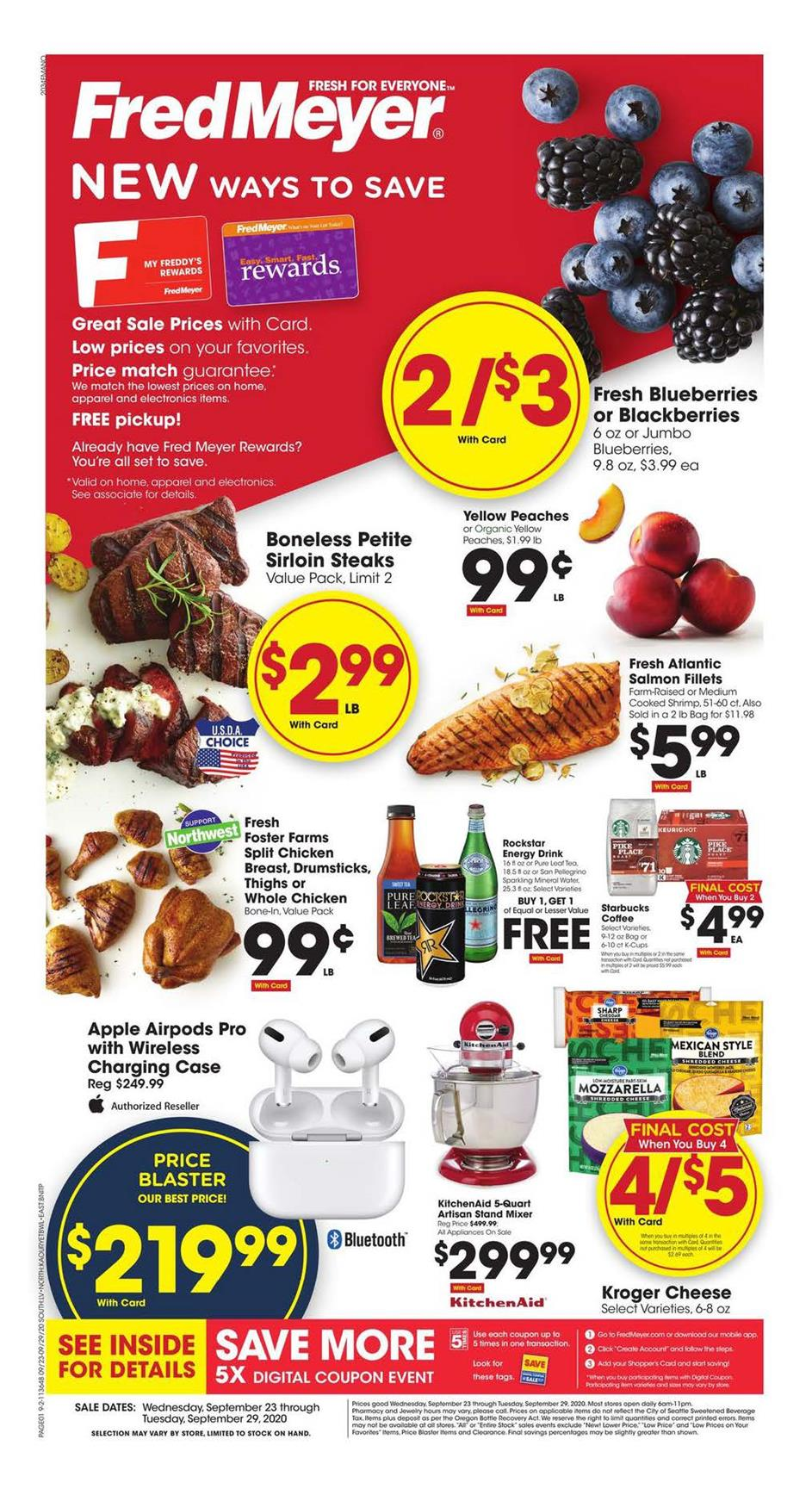 fred meyer final weekly september ad valid from sep 23 29 2020