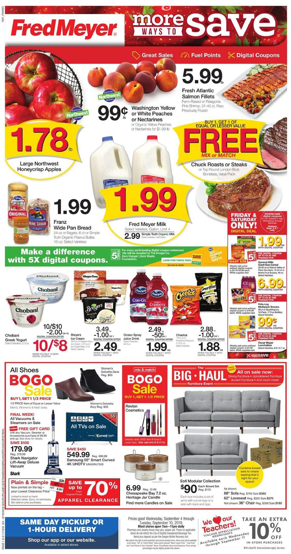 fred meyer ad sep 4 2019