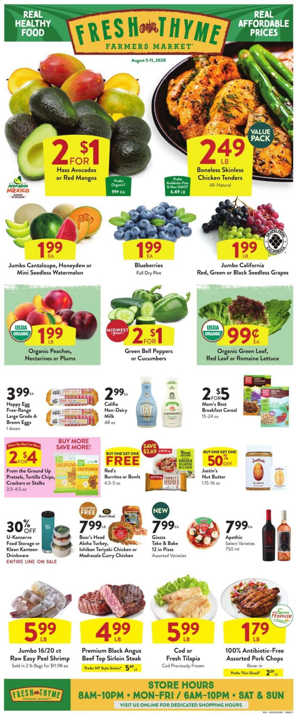 fresh thyme weekly august ad valid from aug 5 11 2020
