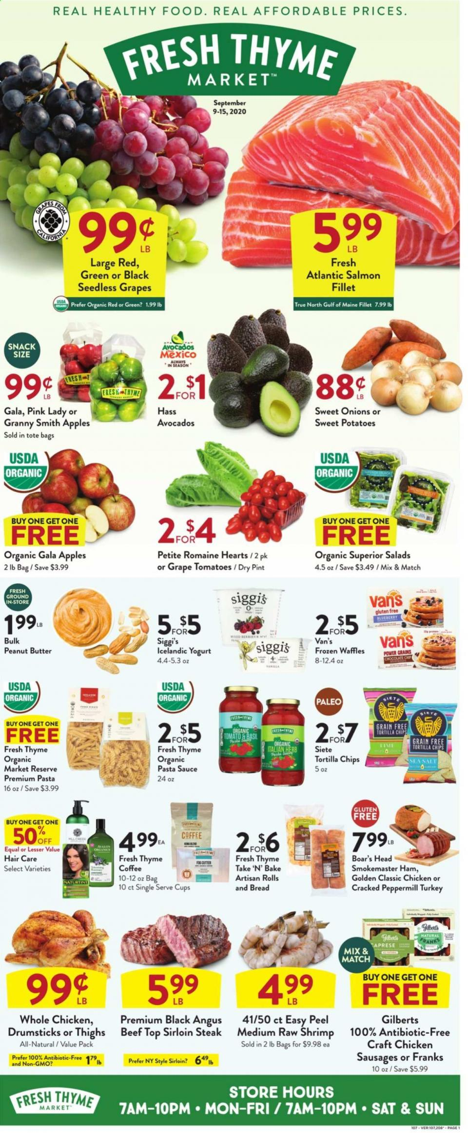 Fresh Thyme Final September Weekly Ad valid from Sep 9 – 15, 2020