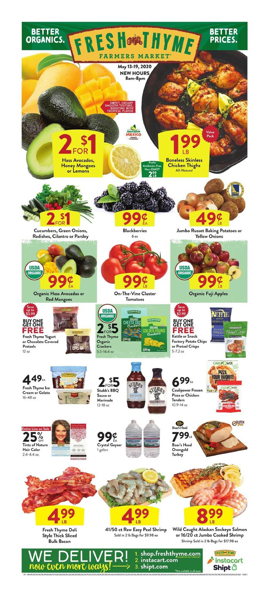 fresh thyme mid may weekly ad valid from may 13 19 2020