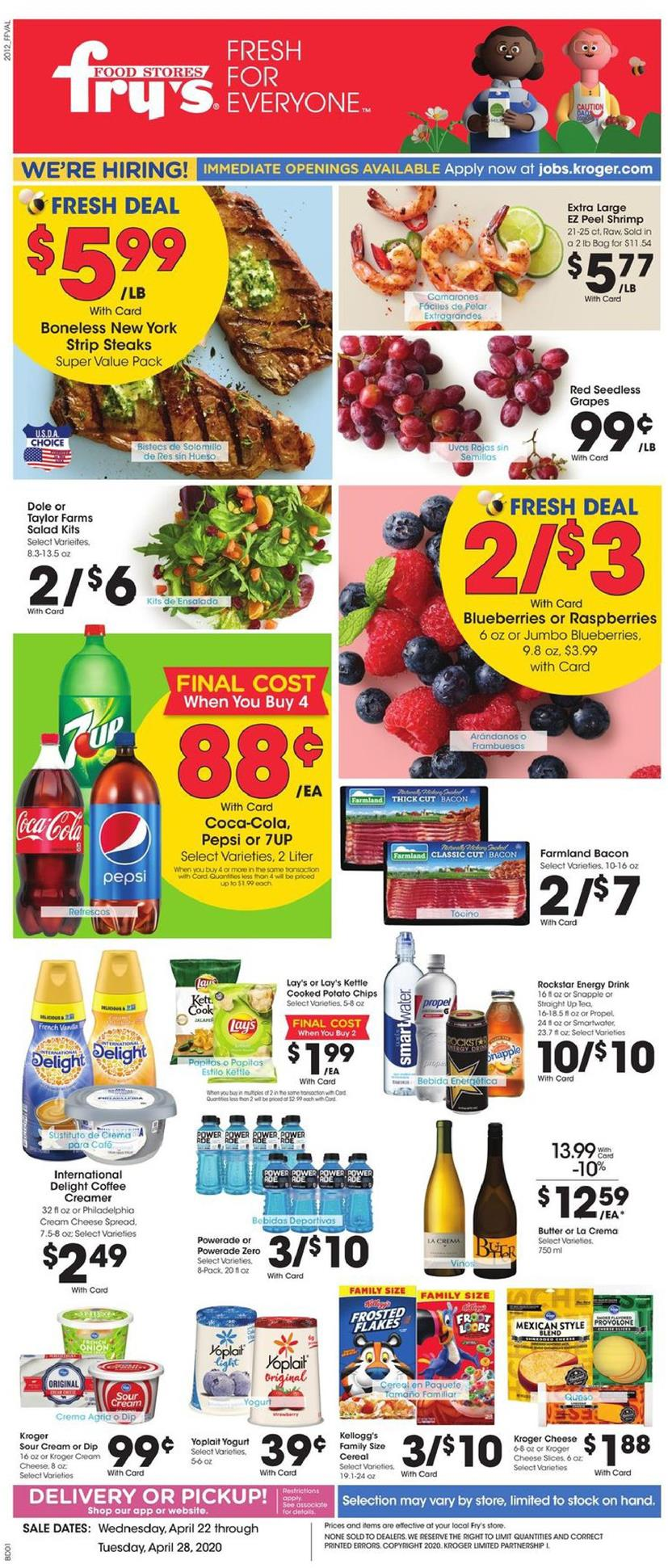 frys weekly ad apr 22 2020