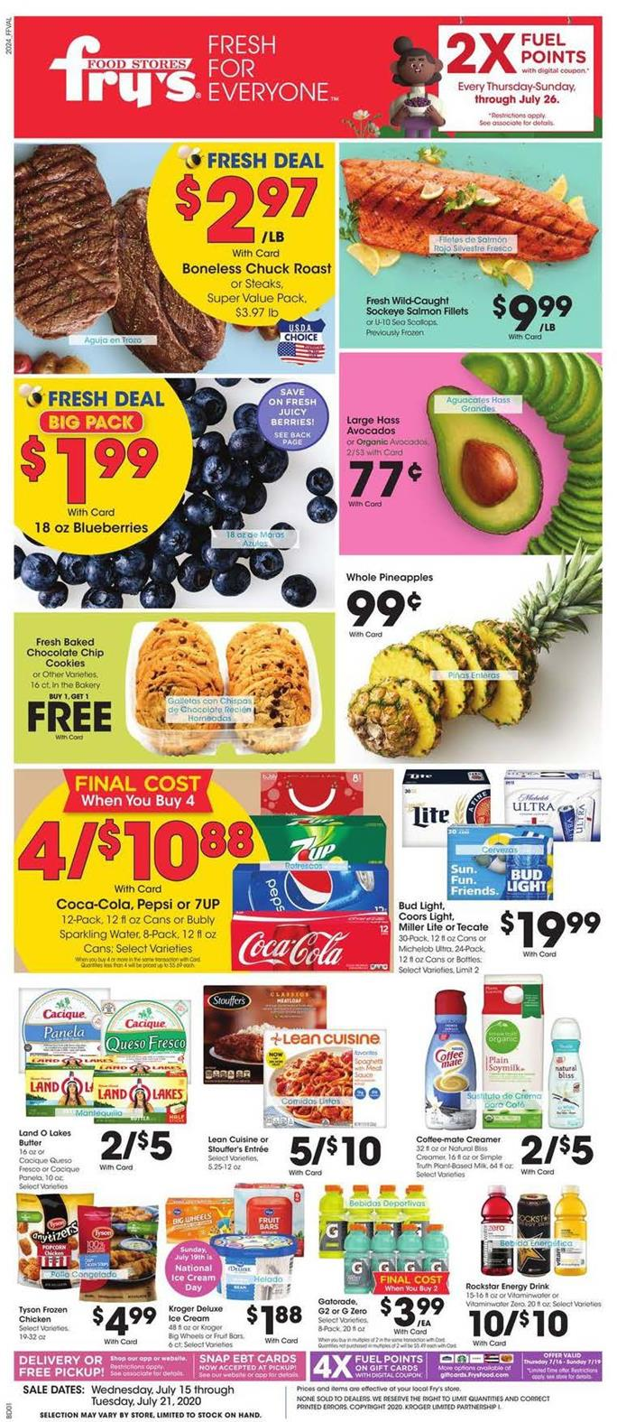 frys weekly mid july ad valid from jul 15 21 2020