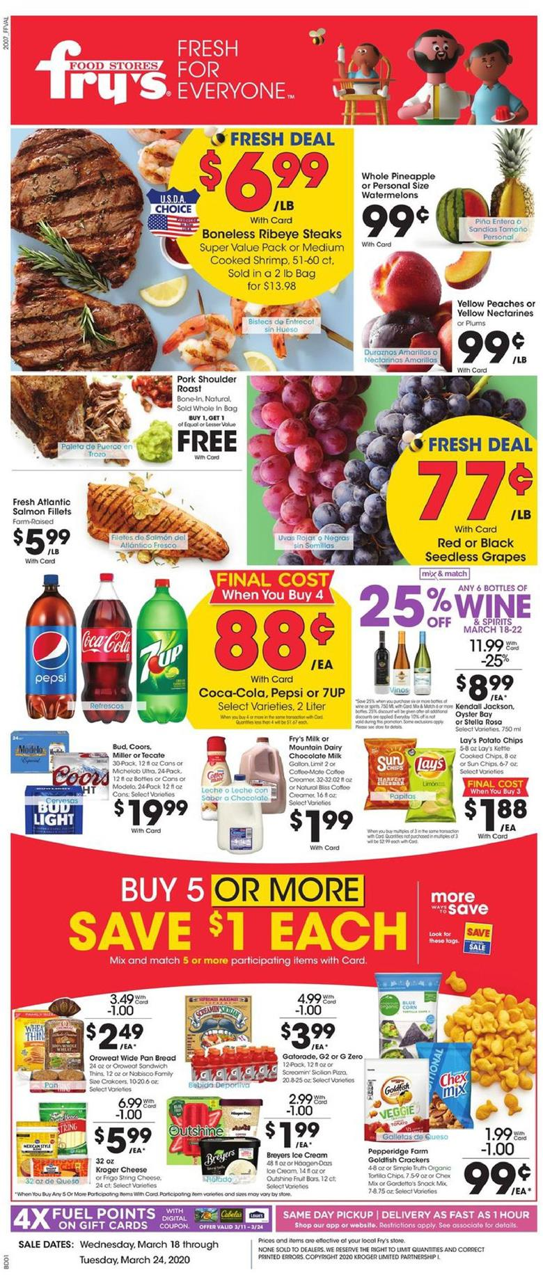 frys march weekly ad valid from march 18 24 2020