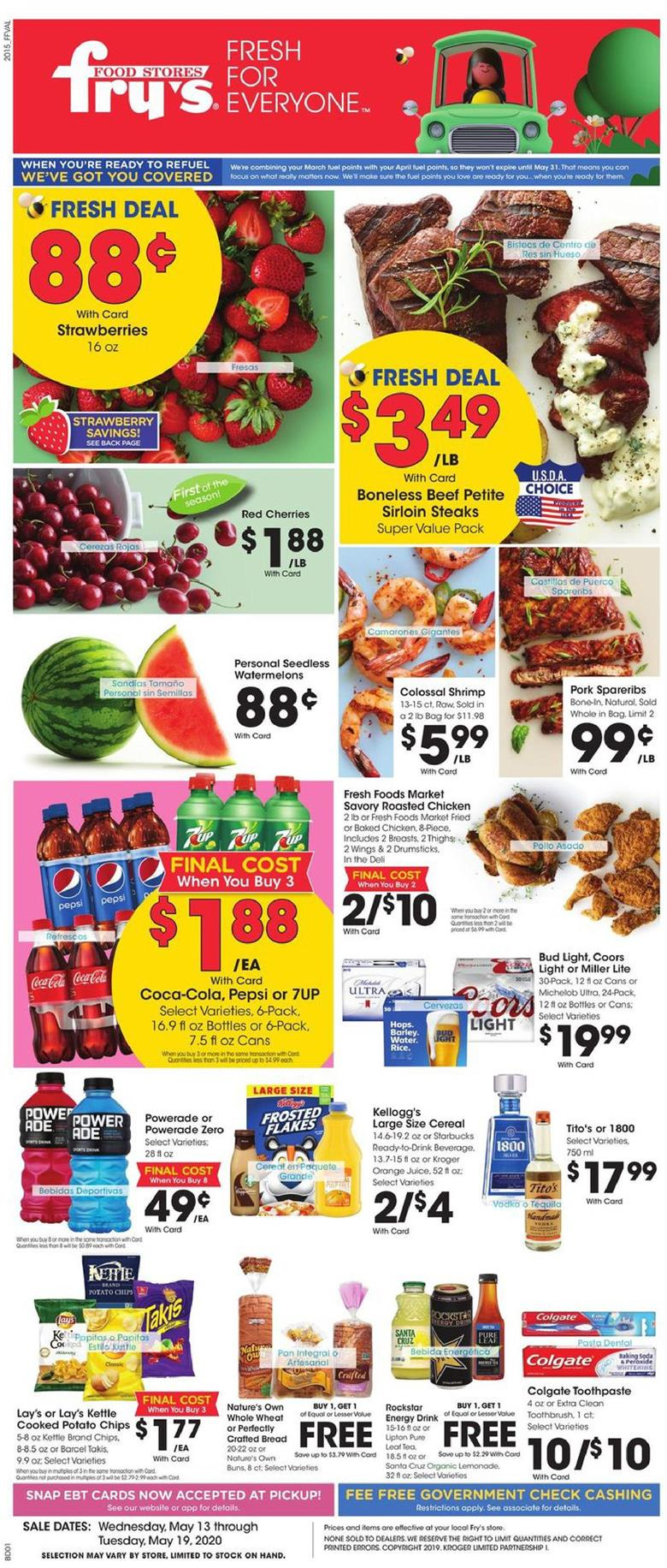 frys weekly ad may 13 2020