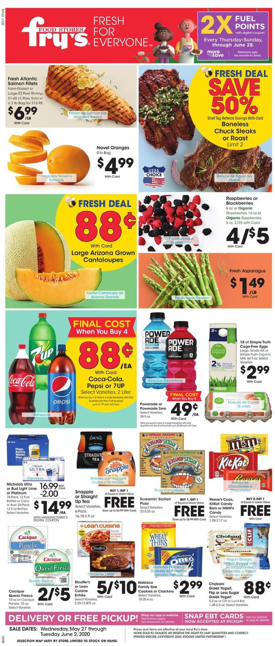 frys weekly ad may 27 2020